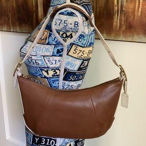 Coach Handbag AUTHENTIC Tan & White. Amazing Cond.